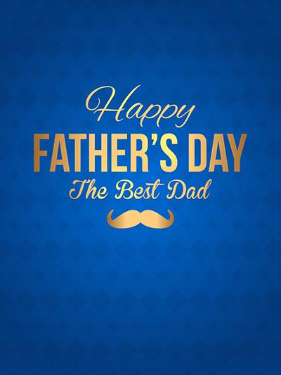 Kate Blue Wall Golden Backdrop for Father'S Day Photography - Kate backdrops UK