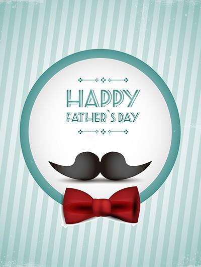 Kate Cartoon beard Blue Stripes Backdrops for Father'S Day Photography - Kate backdrops UK