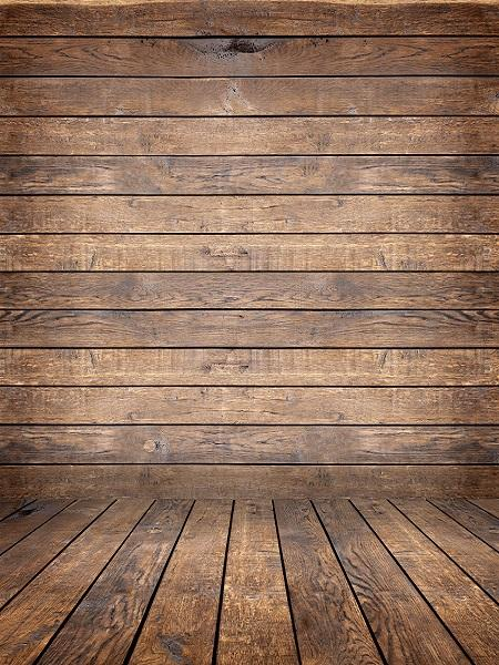 Katebackdrop:Kate Retro Dark Wood Background with Wood flooring