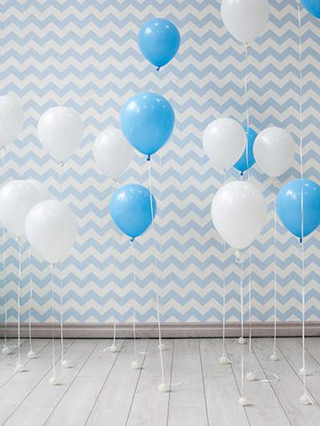 Kate Chevron Background With Balloon Birthday 1St Children/Newborn - Kate backdrops UK