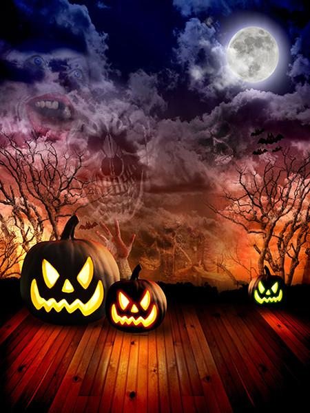 Katebackdrop£ºKate Moon Night Halloween Photography Background Fearful Backdrop For Picture
