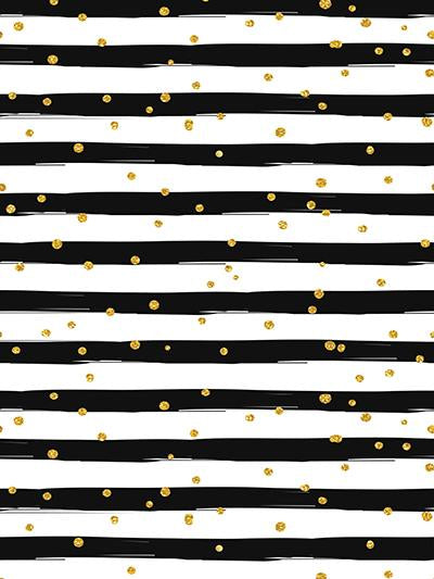 Kate Black and White Stripe with Golden Dots  Backdrop for Photography - Kate backdrops UK
