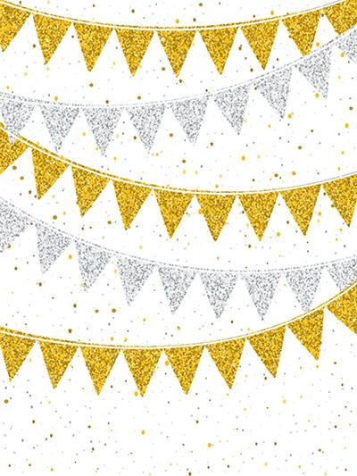 Golden and Silver Flag with Golden Dots Backdrop for Photography - Kate backdrops UK