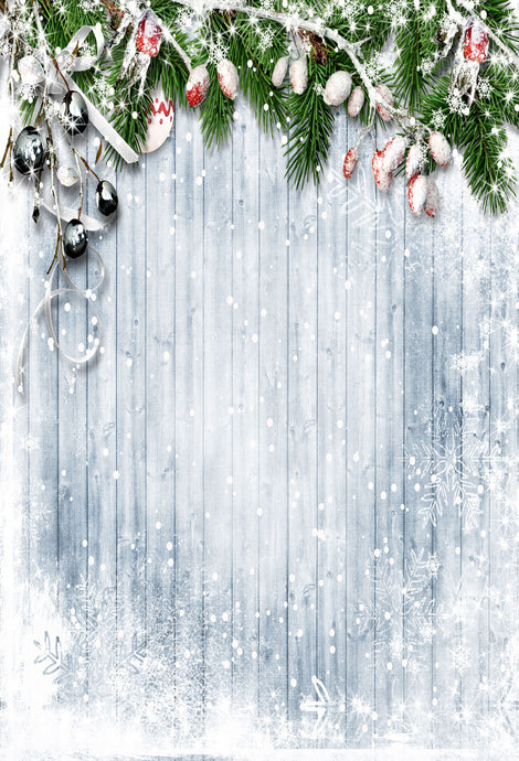 Kate Christmas Frozen Wooden Floor Beach Backdrops for Photography - Kate backdrops UK