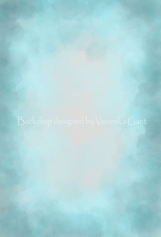 Kate Fine Art Watercolor Blend Blue Backdrop Designed by Veronika Gant