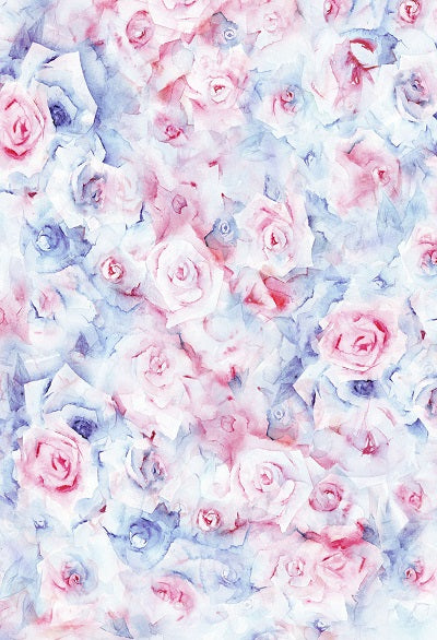 Kate Spring Pink and Blue Flowers Fantasy Backdrop for Photography