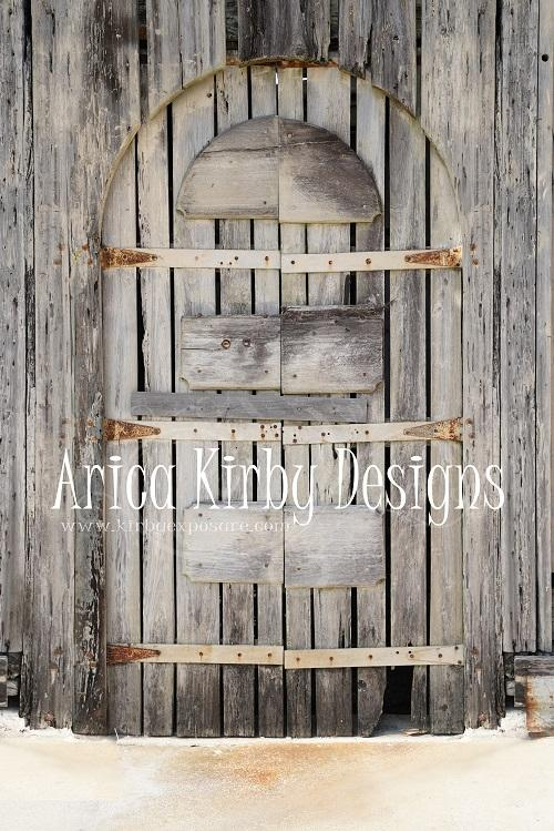 Kate Dilapidated Door Spring Backdrop Designed by Arica Kirby Backdrop for Photography