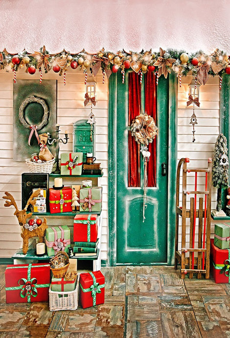 Christmas Decoration Gifts Backdrops