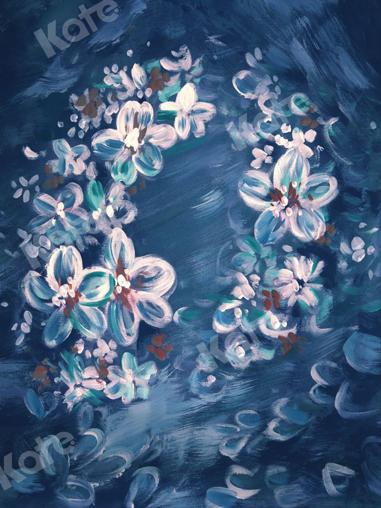 Kate Fine Art Blue Flowers in Clusters Backdrop for Photography