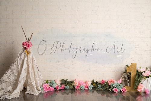 Kate Floral One Backdrop for Photography Designed by Jenna Onyia