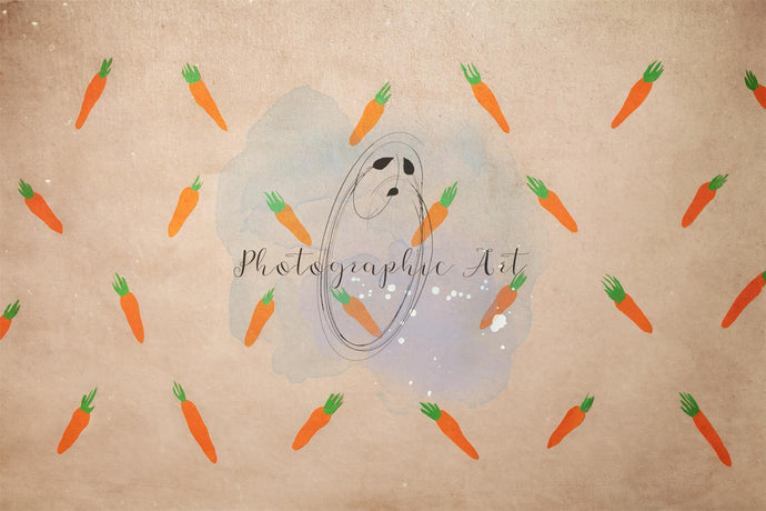 Easter Cute Carrot Backdrop