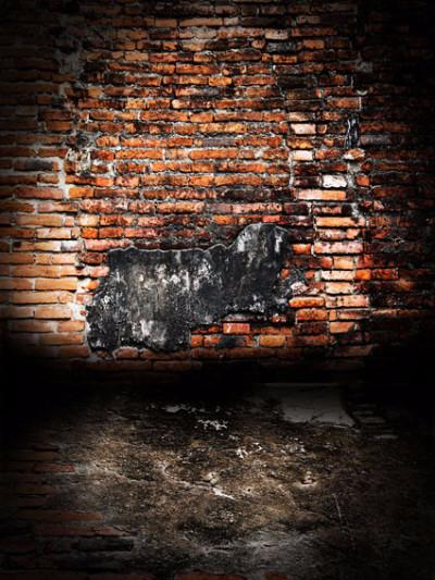 Katebackdrop:Kate Retro Style Broken Red Brick Wall Backdrops