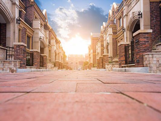 Buy Discount Kate City Scenery Backdrop Sunset Brick Building Background For Photographer Uk Backdrops