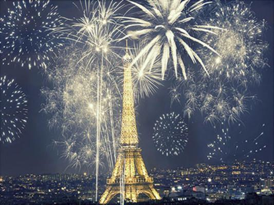 Katebackdrop£ºKate Eiffel Tower Fireworks Photography Backdrops