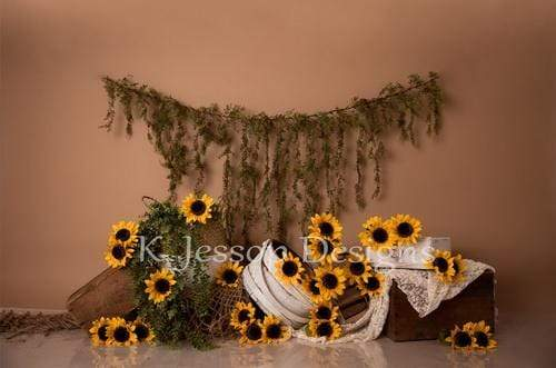 Kate Spring Sunflowers Love Backdrop Designed by Keerstan Jessop