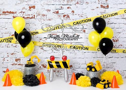 Kate Construction Fun Backdrop Designed By Krystle Mitchell Photography