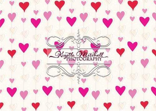 Kate Chain of Hearts Backdrop Designed By Krystle Mitchell Photography