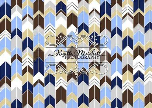 Kate Chevron Seamless Dark Color for Boys Backdrop Designed By Krystle Mitchell Photography