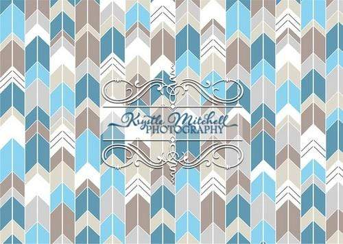 Kate Chevron Seamless Light Color for Boys Backdrop Designed By Krystle Mitchell Photography