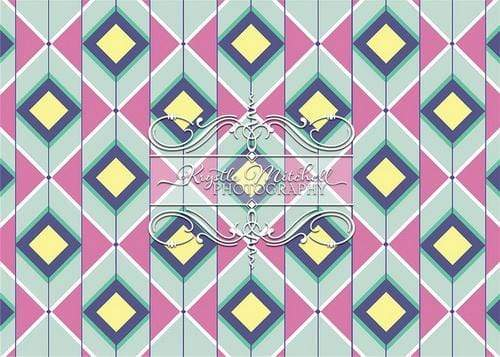 Kate Squared Diamond Colorful Backdrop Designed By Krystle Mitchell Photography