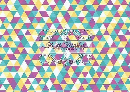 Kate Seamless Triangles Jewel Tones Backdrop Designed By Krystle Mitchell Photography