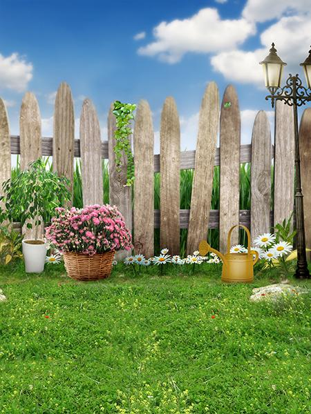 Katebackdrop¡êoKate Easter Backdrop Scenery Spring Farm Background