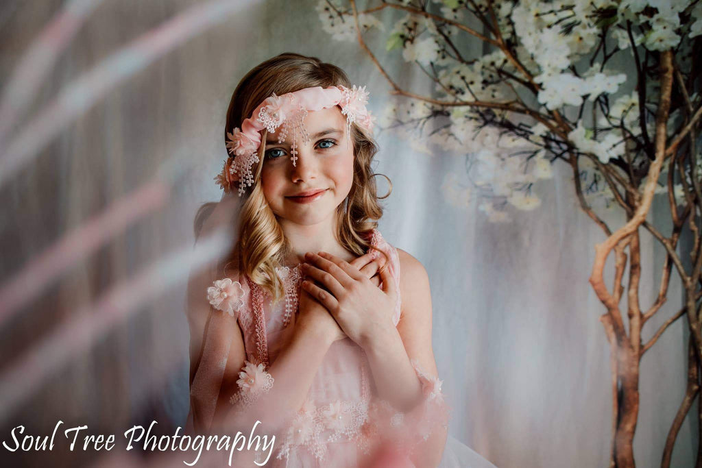 Kate Sunlight Through Window Spring Flowers Backdrops for Photography