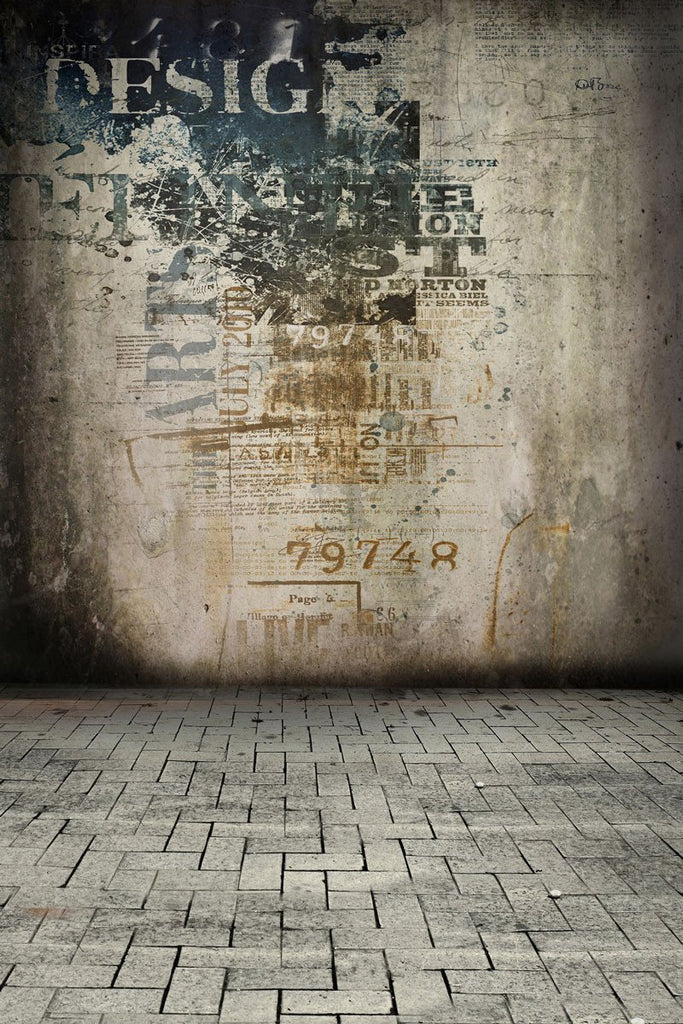 Katebackdrop:Kate Retro Backdrop Dark Photo Concrete Wall For Photography