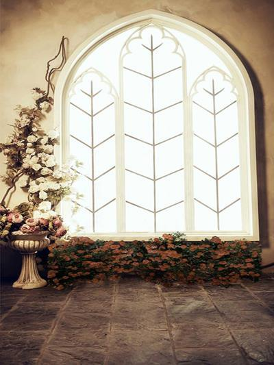 Load image into Gallery viewer, Kate Windows Wedding Flower with floor Backdrop