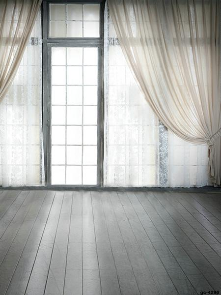 Load image into Gallery viewer, Katebackdrop:Kate Window indoor with White Curtain Backdrop