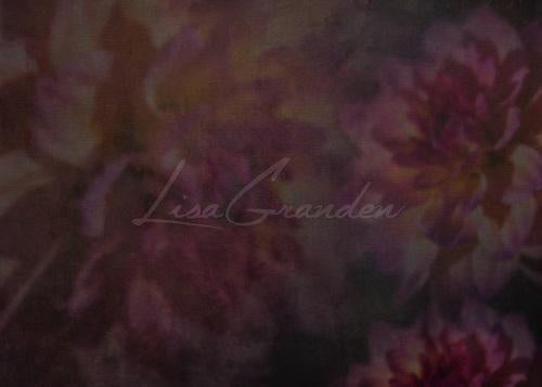 Kate Watercolor Backdrop Dark Pink Flowers Designed by Lisa Granden