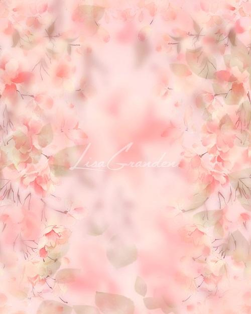 Kate Florals Backdrop Pink Blossoms Designed by Lisa Granden