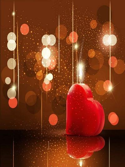 Katebackdrop:Kate Red Glitter Backdrop Sliver Bokeh Backdrop Red Heart