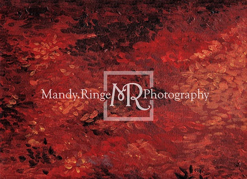 Kate Autumn Enchanted forest Red Leaves Rubber Mat Floor for Photography Designed by Mandy Ringe Photography