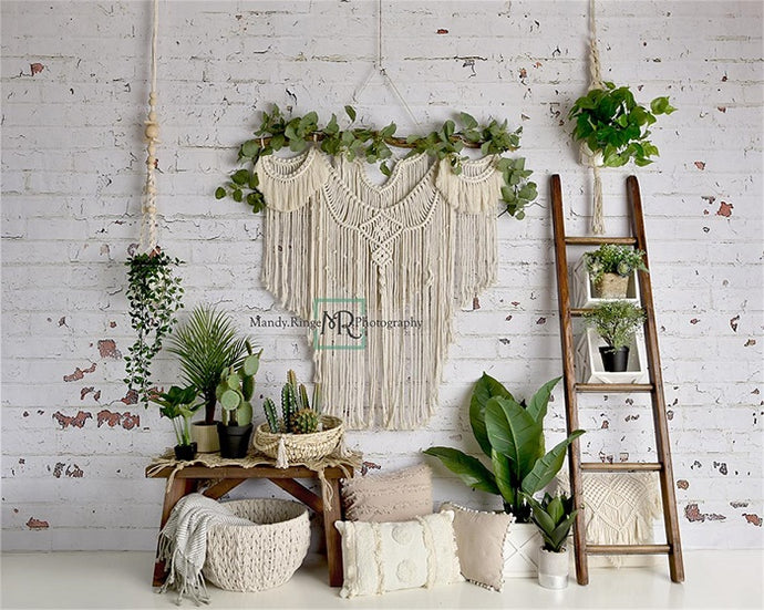 Spring Boho Macrame Room Backdrop