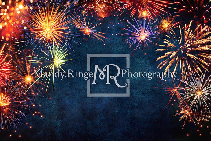 Firework Celebration New Year Backdrop