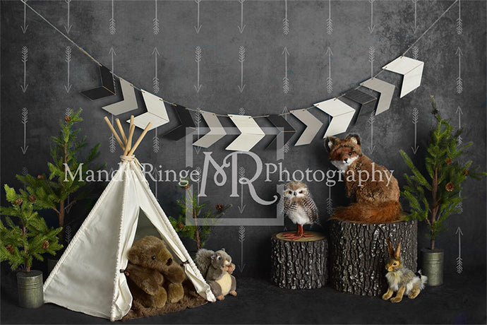 Wild Birthday with Animals Children Backdrop