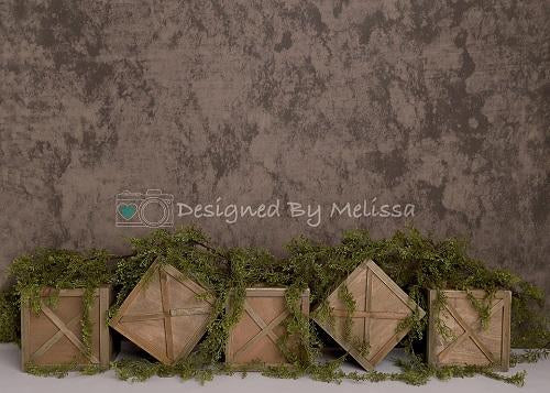 Kate Spring Brown Crates Backdrop Designed by Melissa King