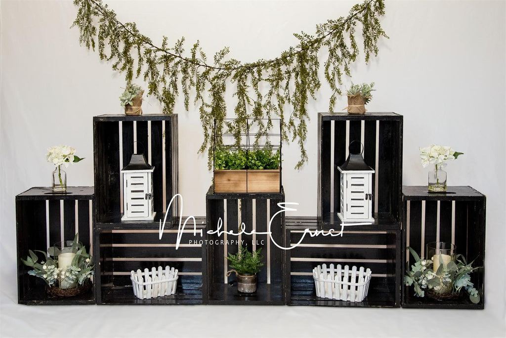 Kate Spring Farmhouse Vine Decoration Backdrop Designed By Michele Ernst Photography