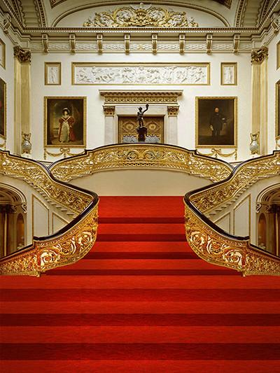 Load image into Gallery viewer, Katebackdrop£ºKate Red Carpet Golden Wedding European Interior Backdrop