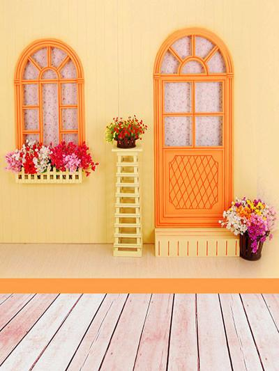 Katebackdrop£ºKate Yellow House Backdrop For Kids Photography Background