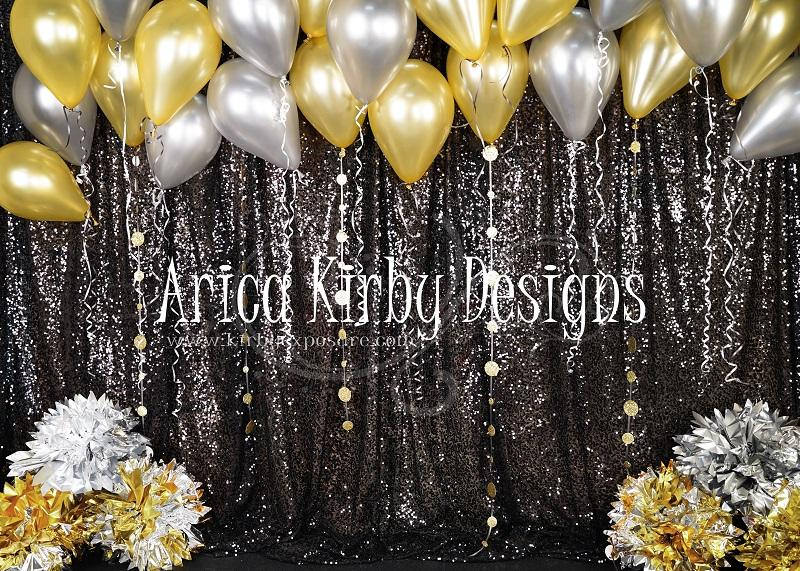 Load image into Gallery viewer, Kate Golden New Years Bash Backdrop designed by Arica Kirby
