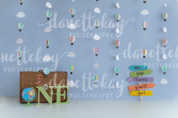 Birthday Children Travel Backdrop