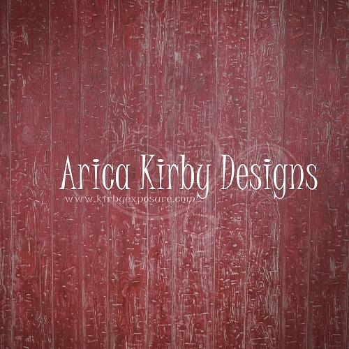 Kate Retro Red Wood Wall Backdrop designed by Arica Kirby