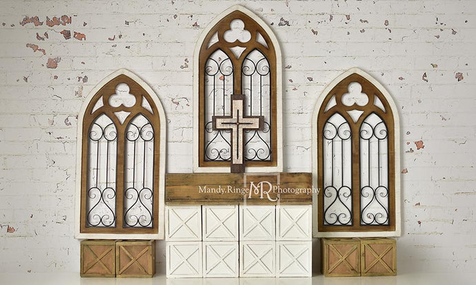 Kate Rustic Church Windows Wedding Backdrop Designed By Mandy Ringe Photography