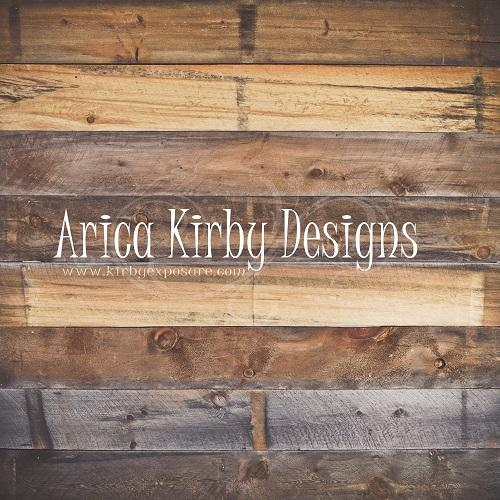 Kate Rustic Barn Wood Wall backdrop designed by Arica Kirby
