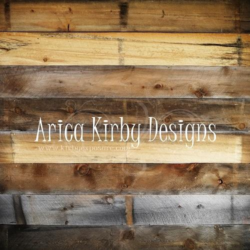 Kate Rustic Wood backdrop designed by Arica Kirby