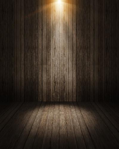 Katebackdrop£ºKate Wood Wall Light Wooden Wall Floor Photography Backdrops