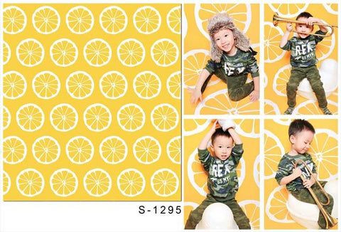 Katebackdrop:Kate Yellow Lemon Backdrop Printed Pattern For Photography Studio