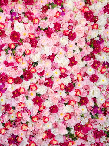 Kate Pink Red Flower Wall Floral Backdrop wedding Photo Shoot